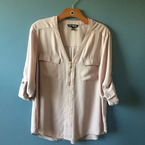 Pale Pink Express Chelsea Work Shirt Size Large